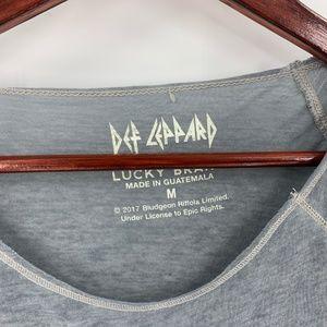 Lucky Brand Tops - Lucky Brand Def Leppard Grey Band Tee